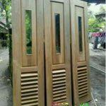 pintu garasi kayu jati jepara