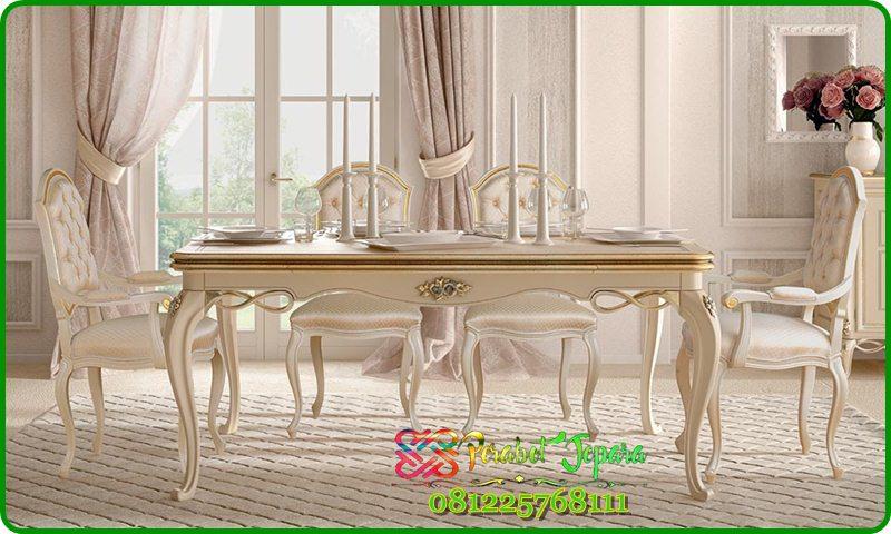 Furniture Set Meja Makan Klasik Terbaru