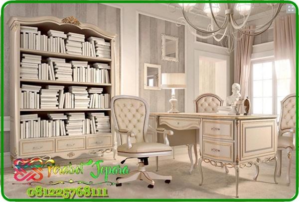 Model Set Meja Kantor Klasik Mewah