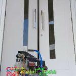 Pintu Double Minimalis Modern Cat Duco Putih