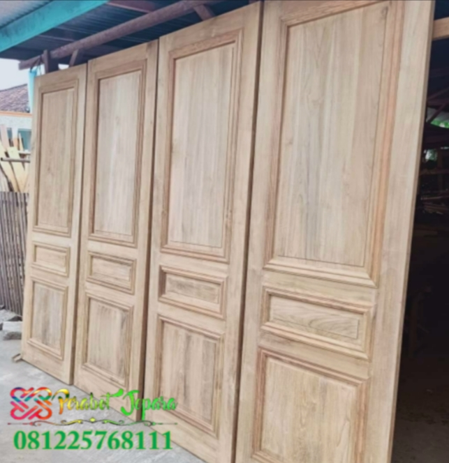 Pintu Kamar Minimalis Elegan Kayu Jati Super