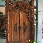 Pintu Kupu Tarung Model Gebyok Jati Ukiran Jepara