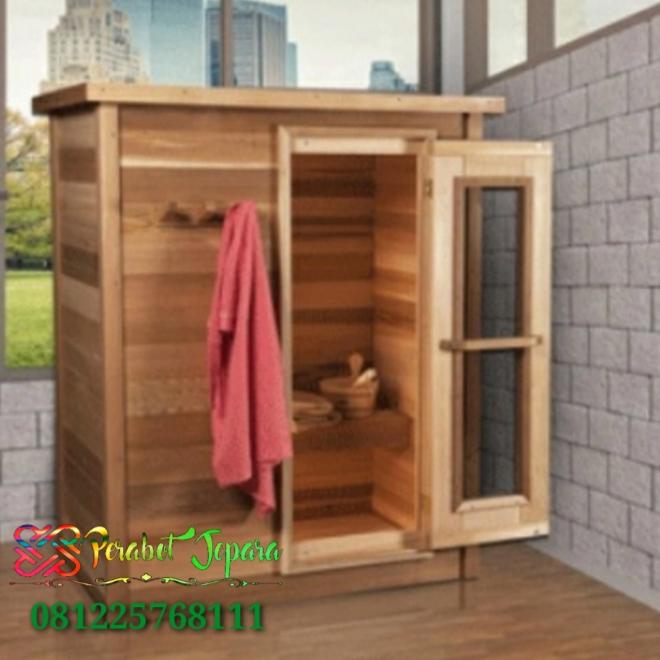 Harga Ruang Sauna Kayu Jati Minimalis Sederhana