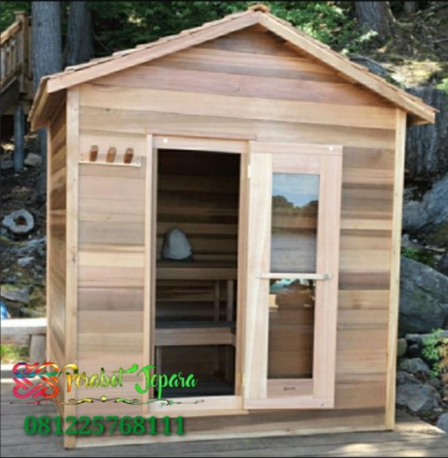 Harga Ruang Sauna Kayu Jati Model Rumah Kayu