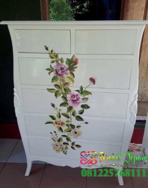 Drawer sepatu dan maininan furniture lukis jepara