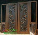 Jual kusen pintu minimalis ukiran bunga teratai