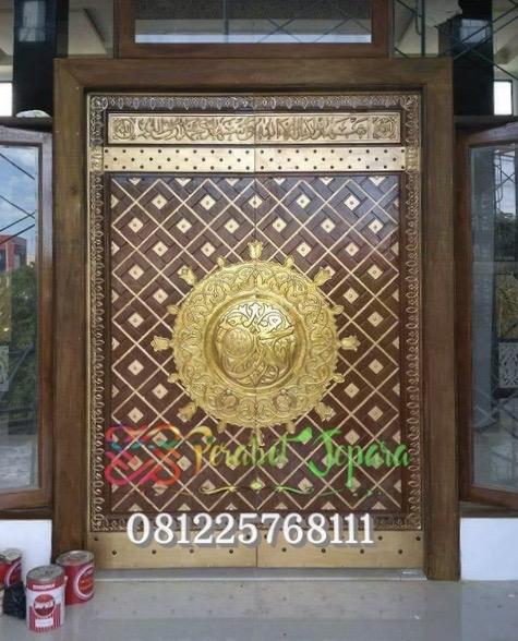 Pintu Masjid Nabawi Kayu Jati Ukir Jepara