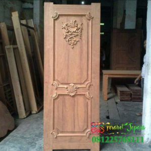 Pintu Ukir Minimalis Single Model Klasik