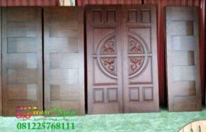 Set Pintu Minimalis Ukir Jati Jepara Model Terbaru