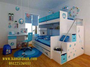 Tempat Tidur Tingkat Anak Karakter Doraemon baru