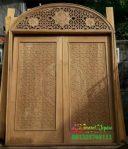 Pintu Masuk Utama Masjid Jati Ukir Jepara