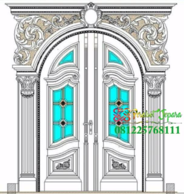 Desain Pintu Ukir Mewah Rumah Klasik Eropa