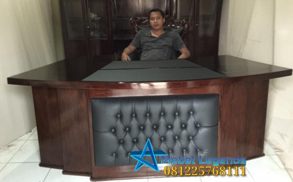 Set Meja Kantor Klasik Mewah Kayu Jati