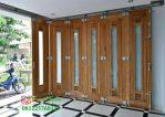 Pintu Sliding Garasi Kayu Jati Panjang 4.5 Meter