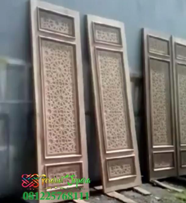 Pintu Masjid Turki Ukir Krawangan