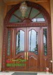 Pintu Gereja Ukir Jepara Kayu Jati Tua
