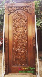 Pintu Kamar Jati Ukir Mewah Jepara